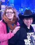 Tammy (in cowboy hat) with  Brittany at the Luke Bryan concert