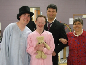 Charlie (middle) with fellow cast members from Peter Pan.  (Mike, Charlie, Chase, Cheryl)