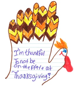 What the turkey's grateful about!